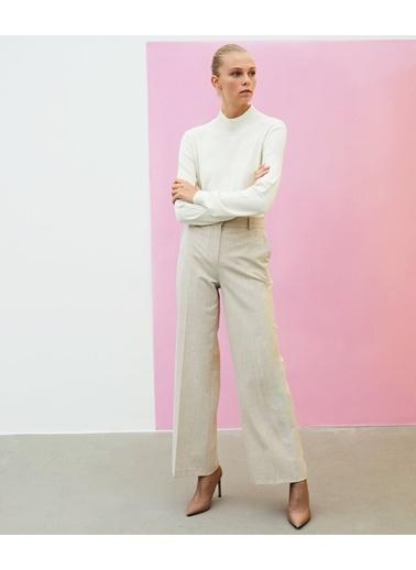Ipekyol Kadın  Pantolon IW6200003312 Bej